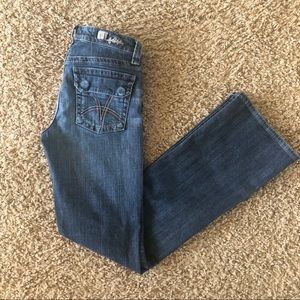 UC Kut from the Kluth Boot Cut Flap Pocket Jeans